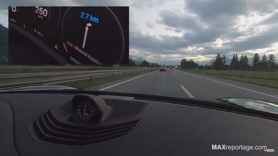 Watch Porsche Taycan Try To Overtake Tesla Model S P100D On Autobahn