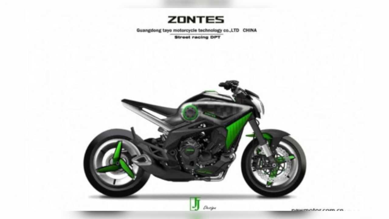 Zontes 800cc Triple Naked Render