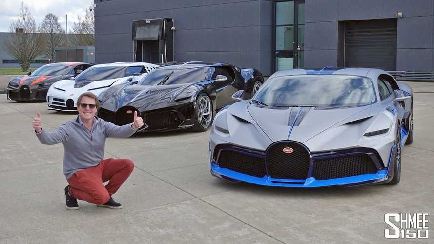 Bugatti La Voiture Noire and Super Sport 300+ pose for the camera