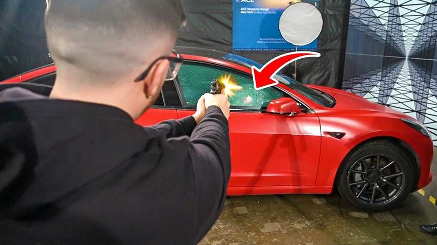 Does A Bulletproof Tesla Stop Bullets? Let's Shoot It To Find Out