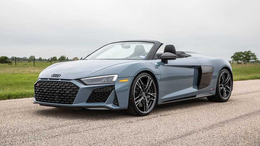 A Hennessey két turbójával is úgy szól az Audi R8, mint egy rakéta (videó)