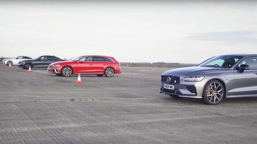 BMW M340i, Audi S4, AMG E53 ve S60 Polestar drag yarışında