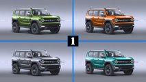 ford bronco four color renderings