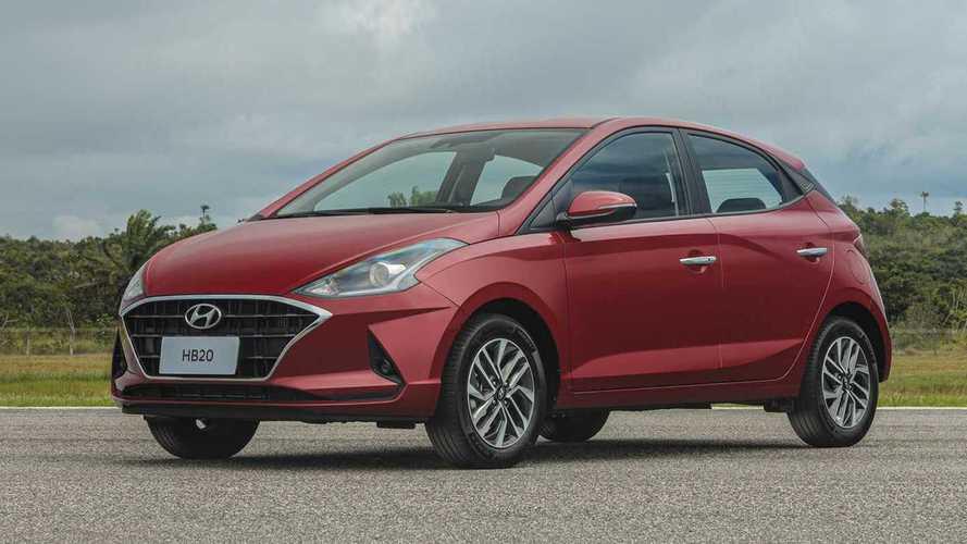 Hyundai HB20 lidera pela 1ª vez entre os hatches mais vendidos
