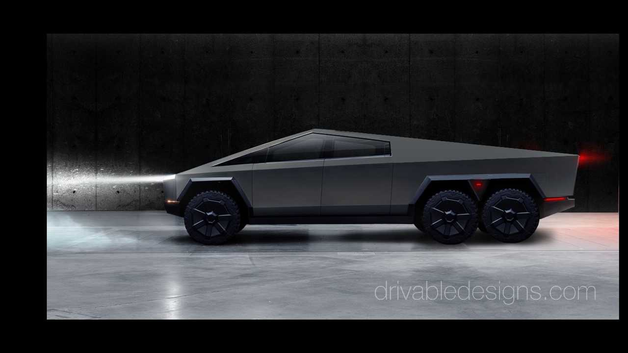 6-Wheel Tesla Cybertruck