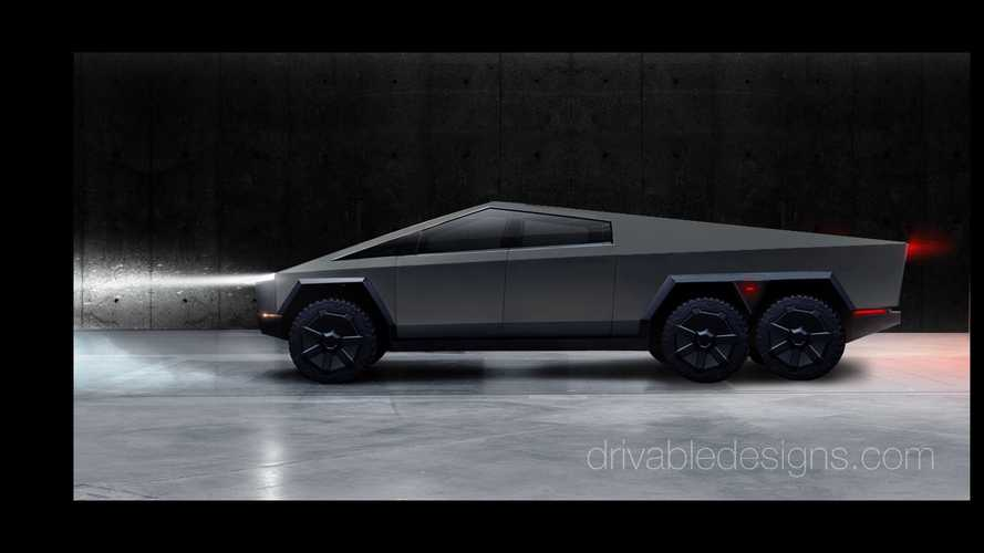 Heavy-Duty Tesla Cybertruck Shows Up In New 6-Wheel Renders