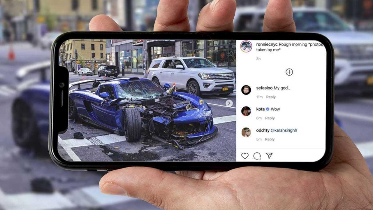 Copertina 2 Brutto incidente per una Porsche