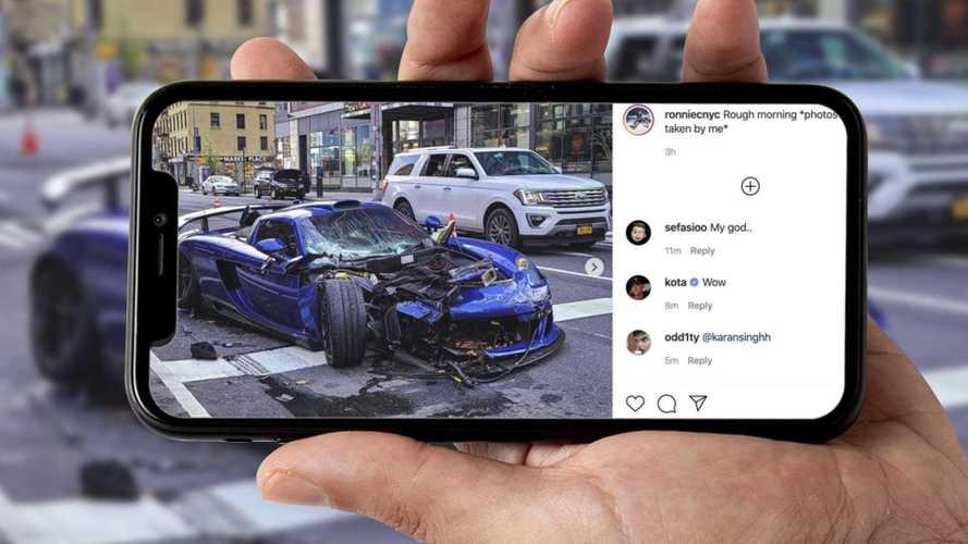 Brutto incidente per una Porsche Gemballa Mirage GT a Manhattan