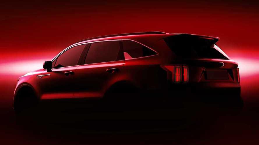 Тизеры Kia Sorento 2021 модельного года