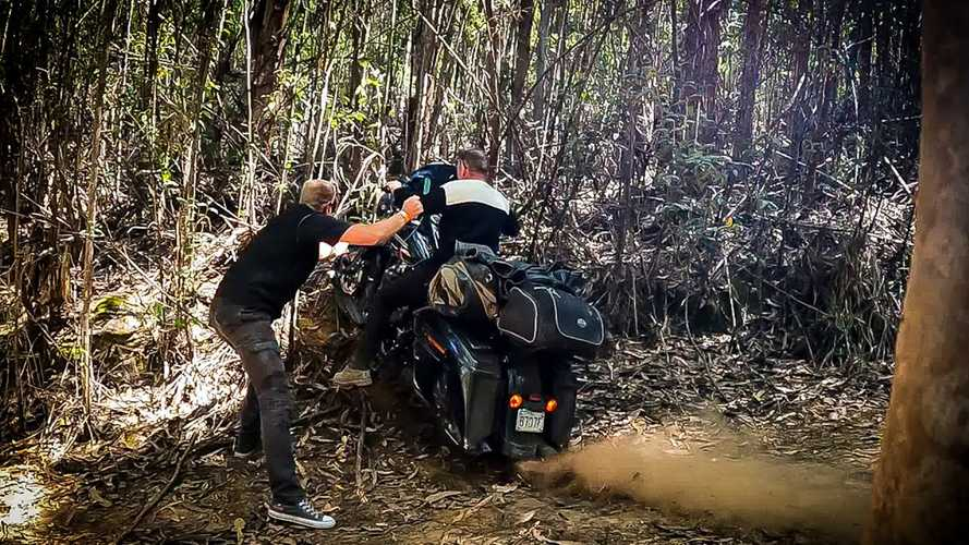 How Not To Ride A Harley-Davidson Road King Off-Road