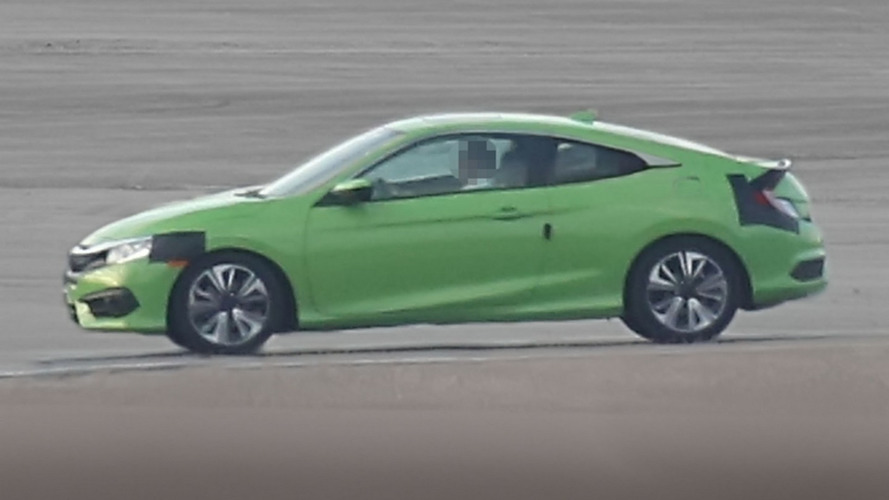 Honda Civic Coupe spied with very little disguise