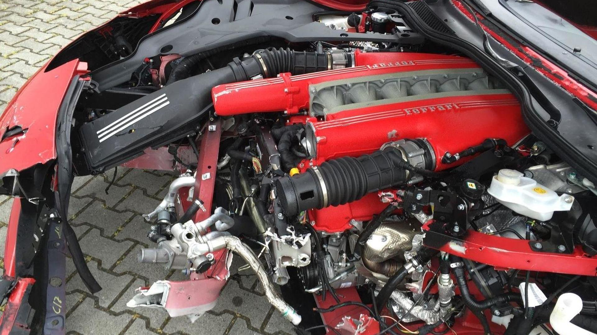 Heavily Crashed Ferrari F12 Berlinetta Is A 77 000 Pile Of Junk