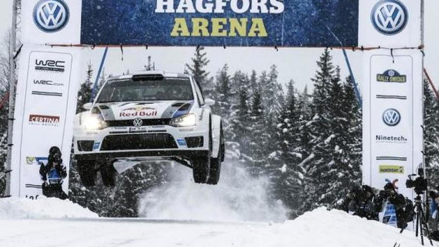 Jari-Matti Latvala at WRC Sweden in his Volkswagen Polo R 09.02.2013