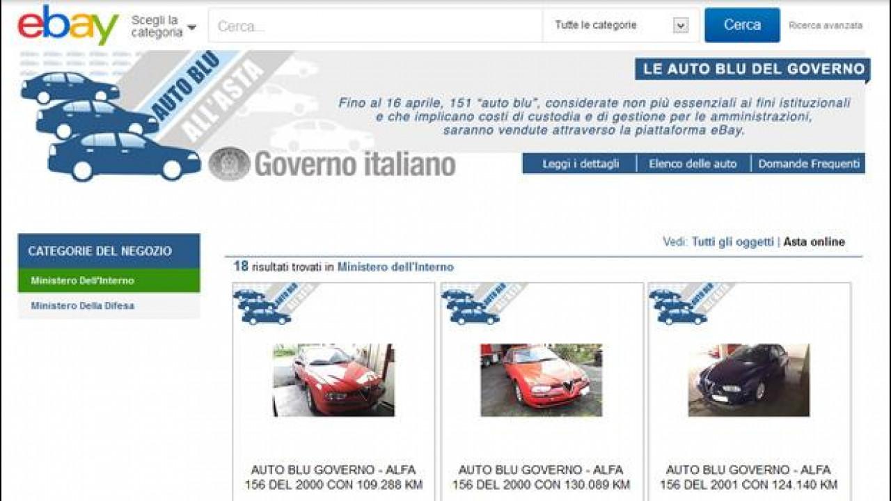 [Copertina] - Auto blu all'asta: il ricavato di eBay in beneficenza