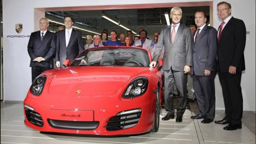 Volkswagen, al via la produzione della Porsche Boxster