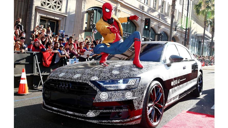 Pókember már a vadonatúj Audi A8-cal érkezett a premierre