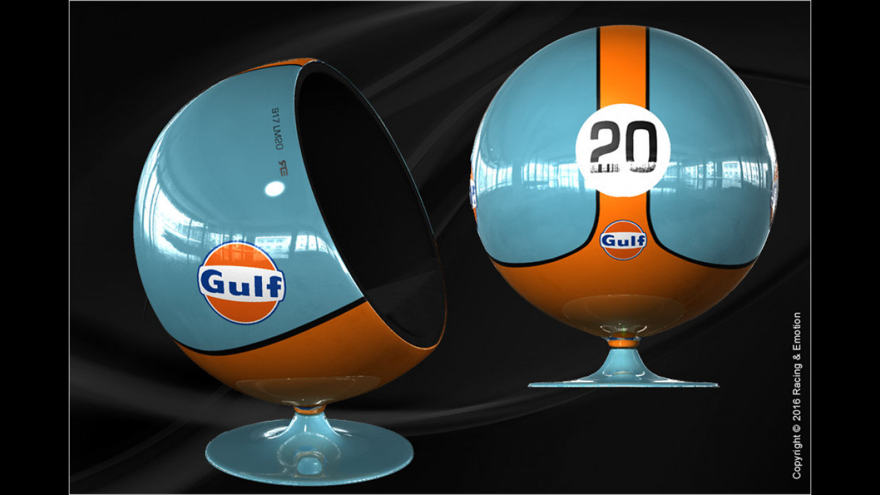 Racing & Emotions Art Ball Chair ,Gulf