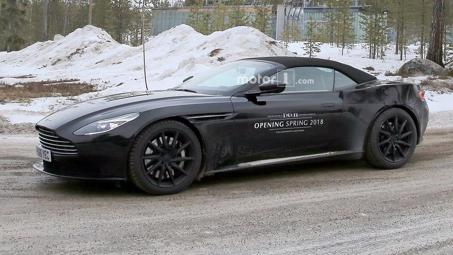 Photos espion - L'Aston Martin DB11 Volante complètement nue