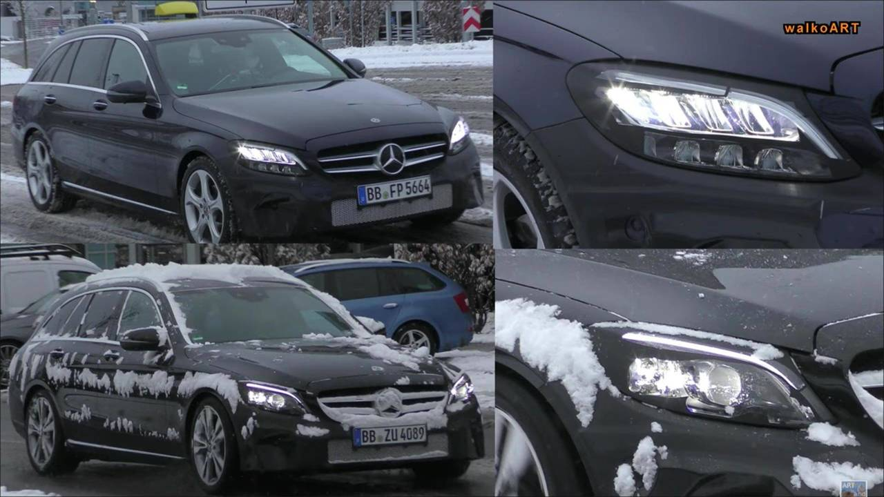 2018 Mercedes-Benz C-Class Headlight Spy Shots