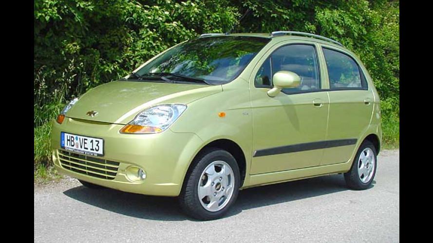 Chevrolet Matiz für Bequeme: Jetzt schaltet die Automatik