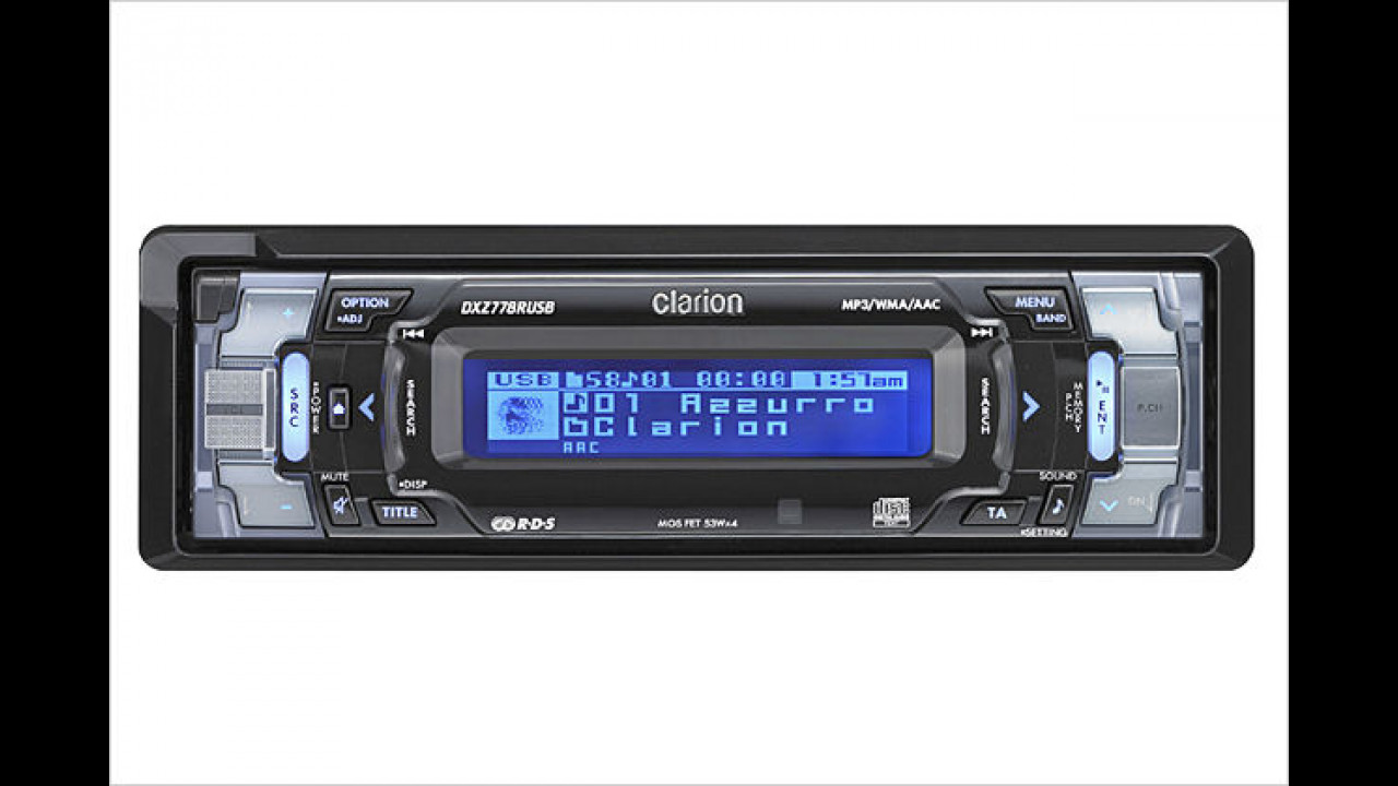 Clarion DXZ778USB: CD-Radio mit USB-Anschluss