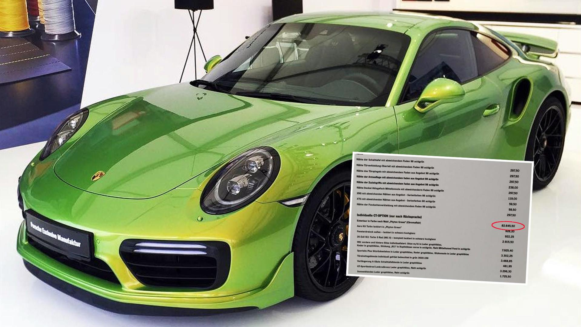 Porsche 911 Turbo S Custom Factory Paint Job Costs Almost 100k