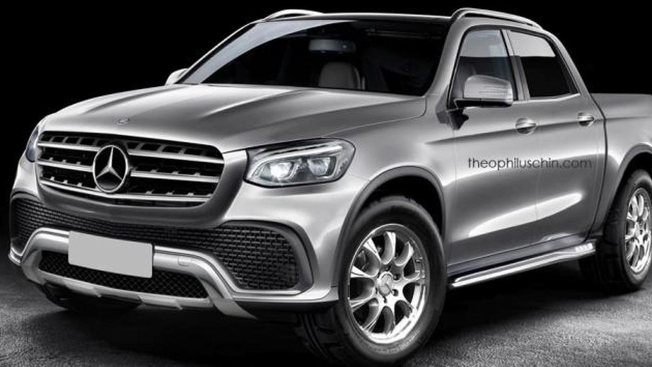 Mercedes-Benz pickup rendering / Theophilus Chin
