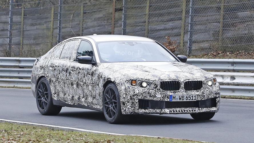2017 BMW M5 prototype has new front bumper [39 pics]
