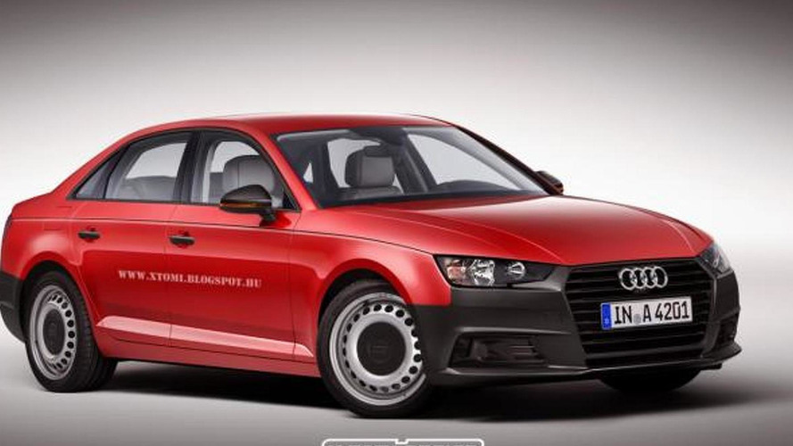 Entry-level Audi A4 B9 imagined