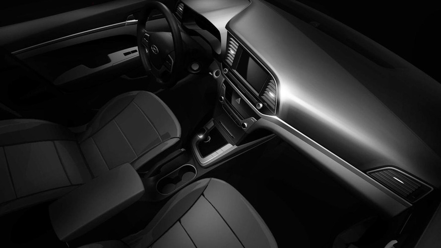 Hyundai Elantra interior teased