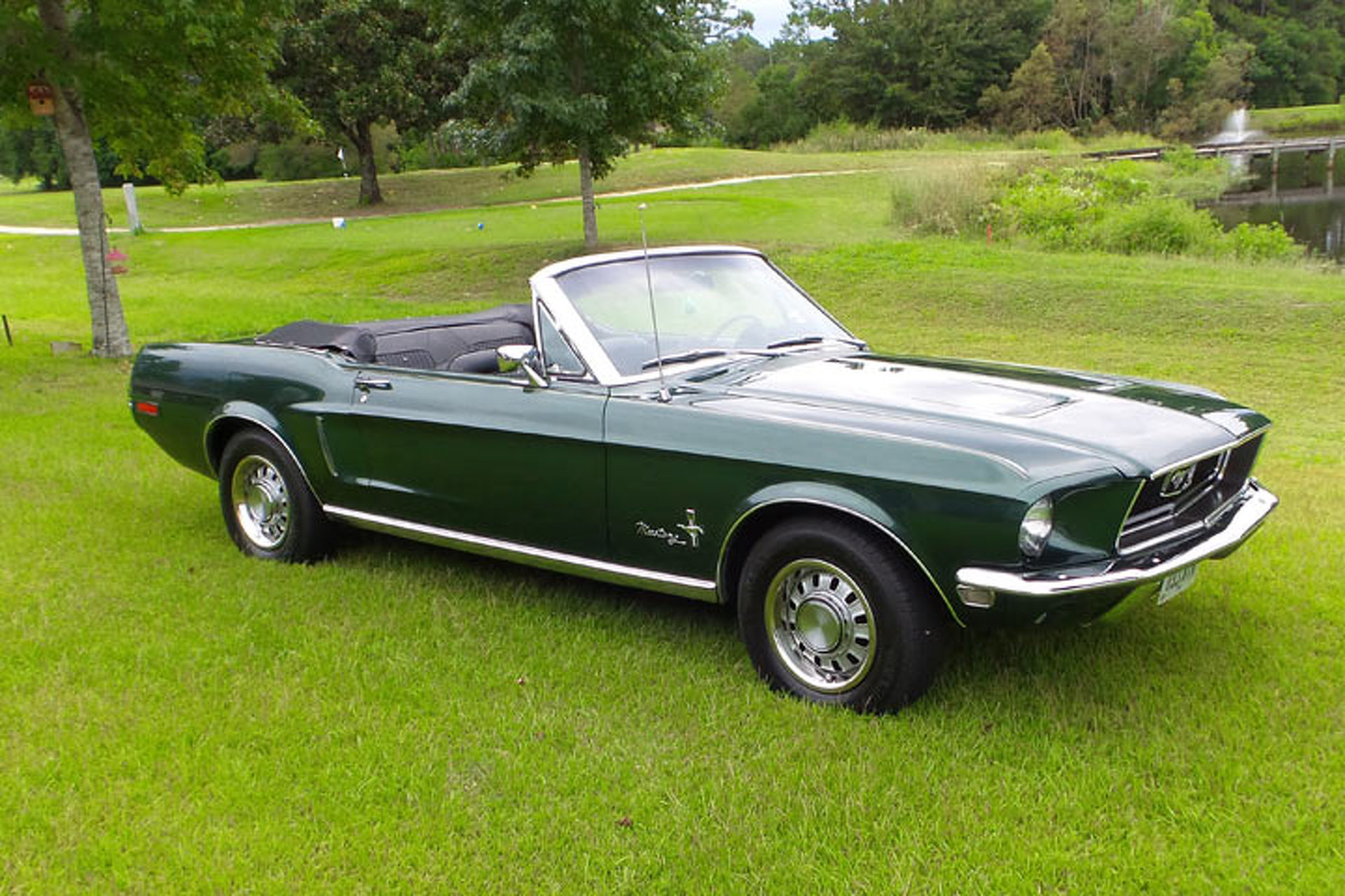 Your ride freds gorgeous 68 mustang convertible