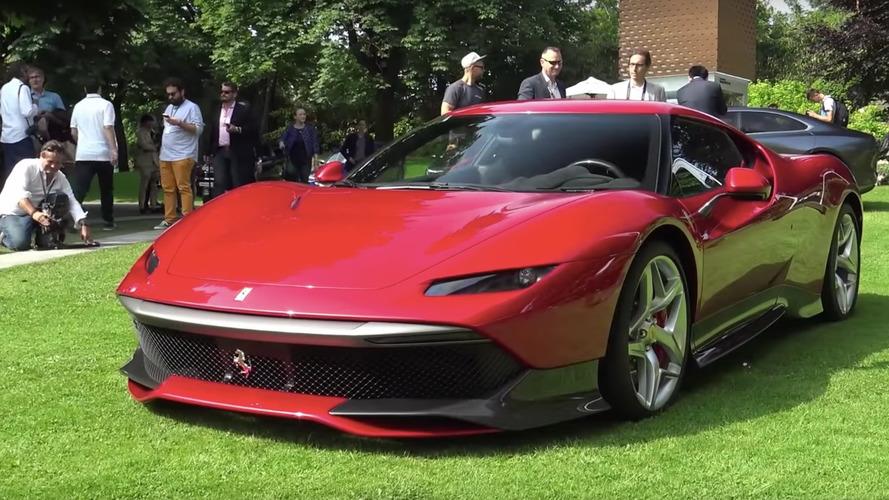 Ferrari SP38'in yakın çekim videolarına göz atın