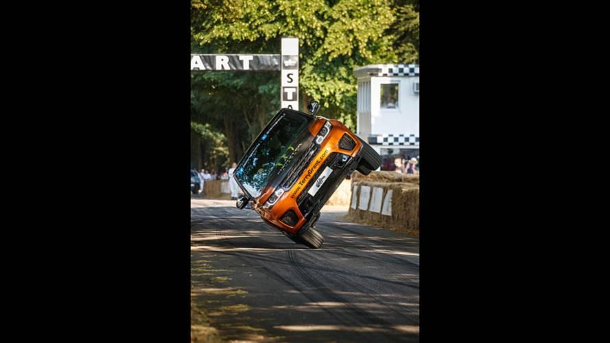 Range Rover Sport SVR two wheel world record
