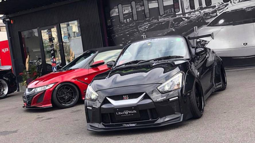 Liberty Walk turns Daihatsu Copen into Nissan GT-R of Kei Cars