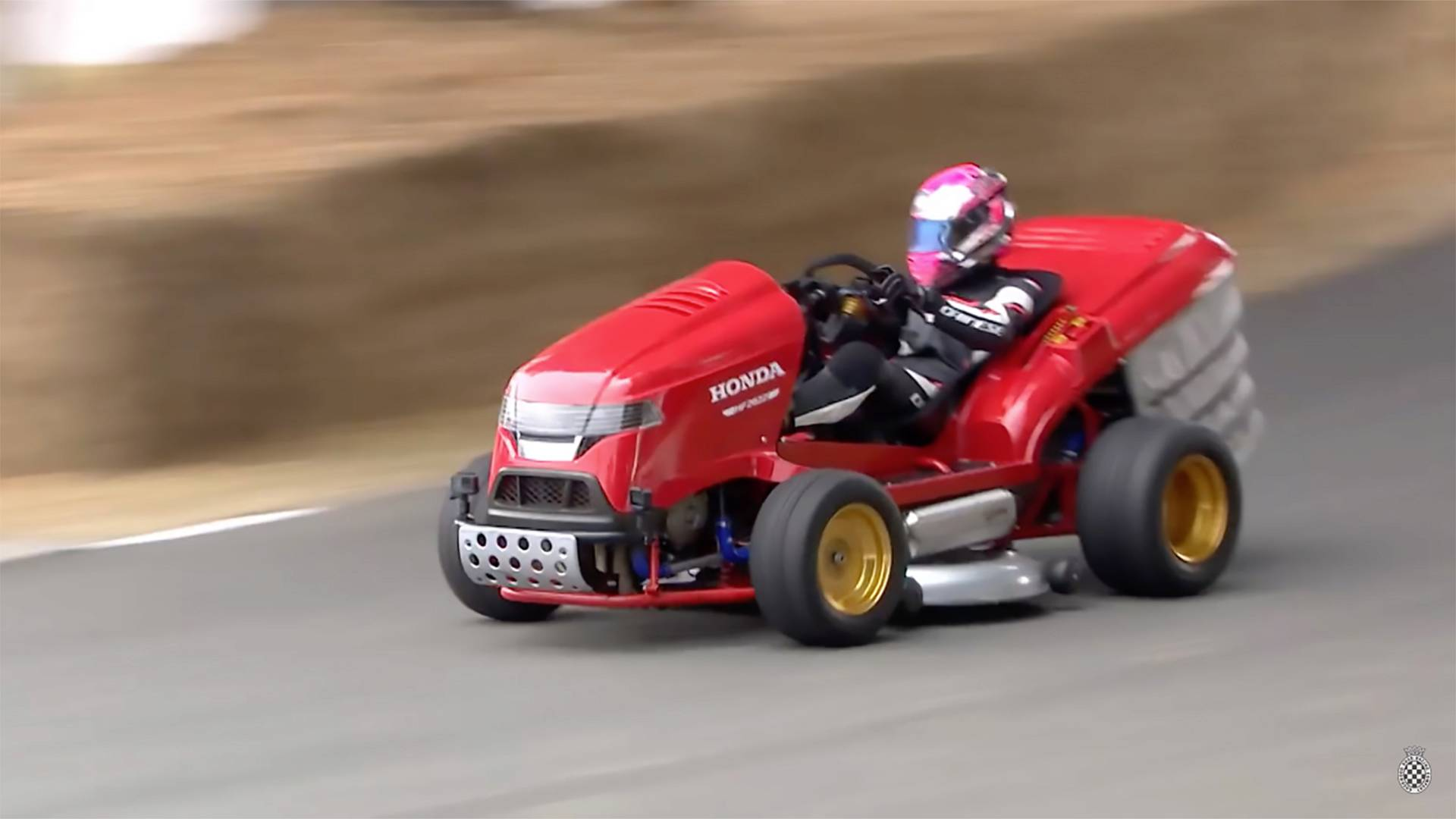 Watch The World S Fastest Lawnmower Tear Up Goodwood S Hill