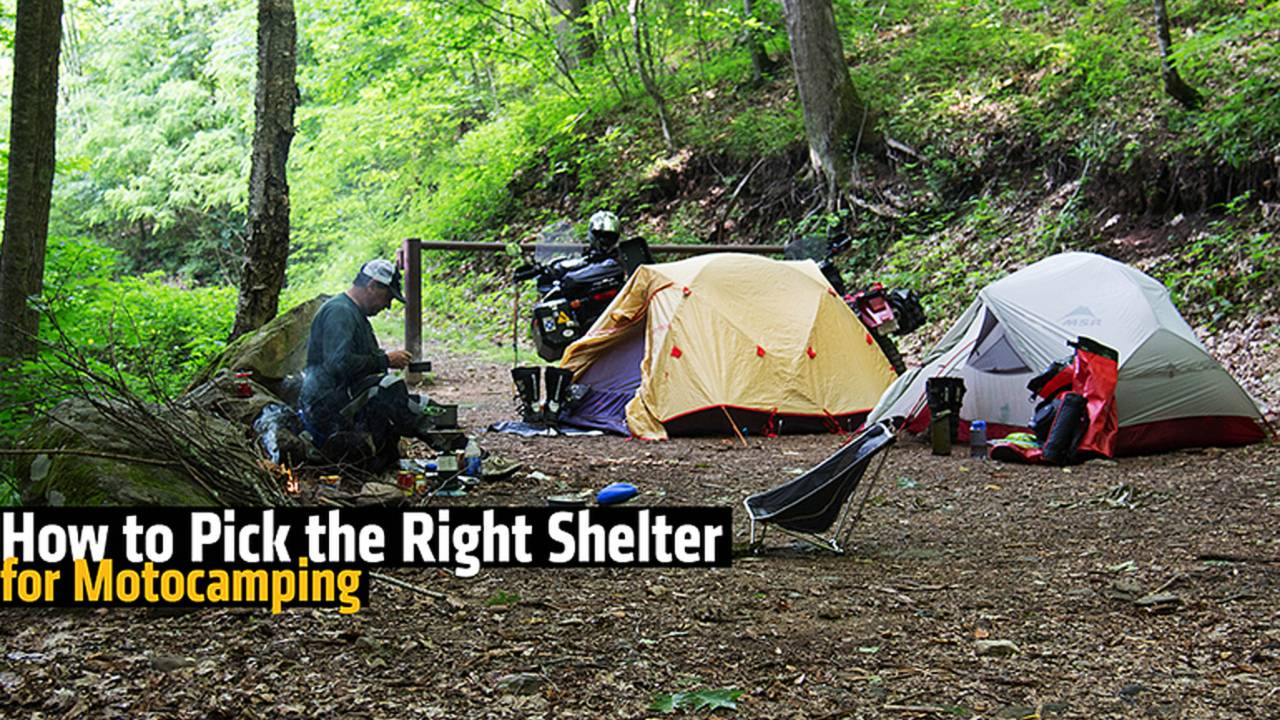 How to Pick the Right Shelter for Motocamping