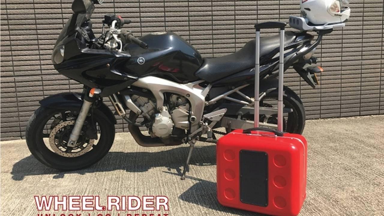 Wheelrider: A Solar Top Box That Transforms Into Wheeled Suitcase