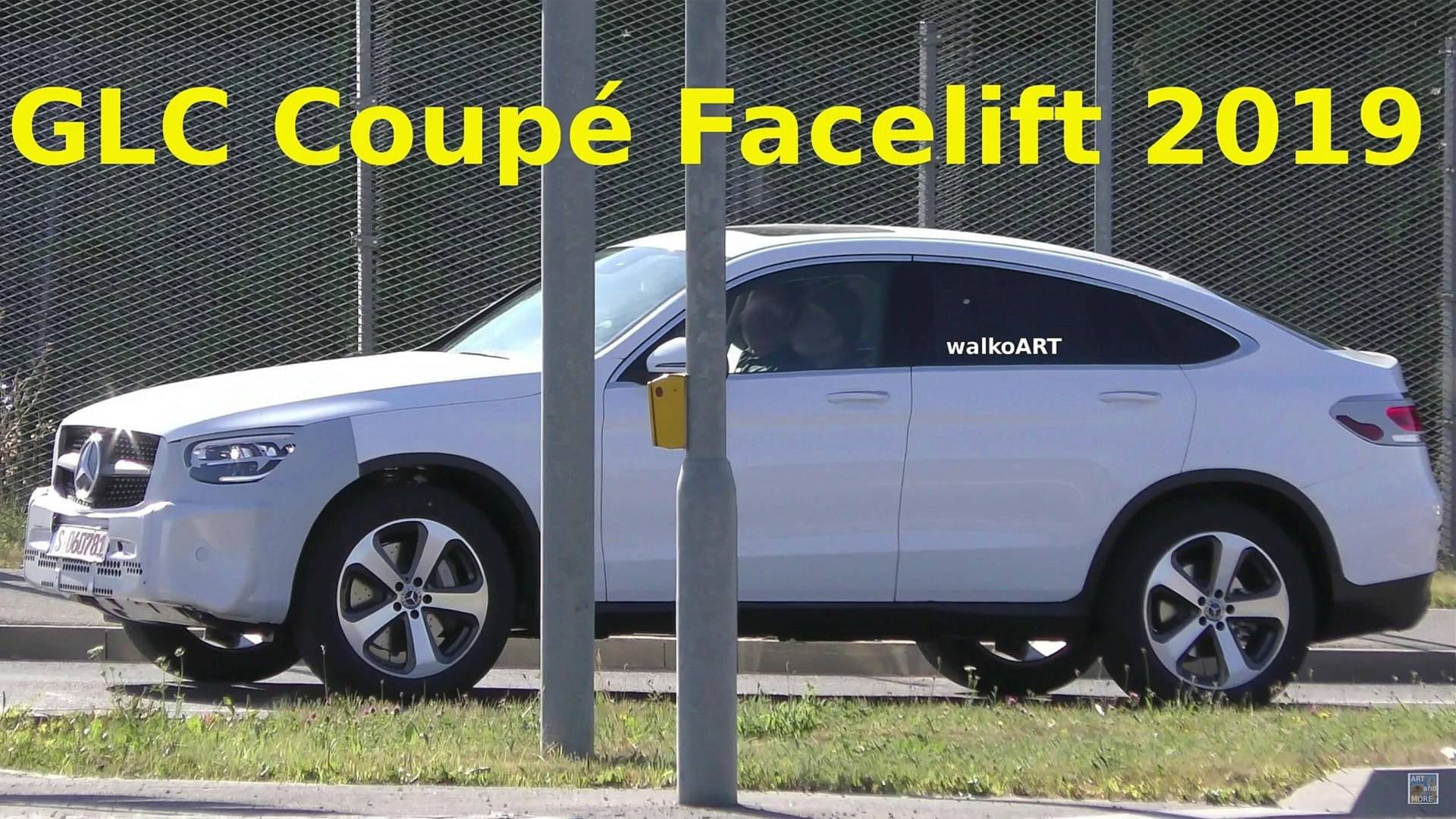 2019 Mercedes GLC Coupe Spied In Traffic With Very Little Camo
