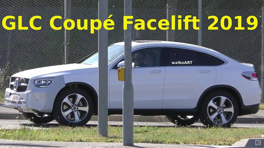 2019 Mercedes GLC Coupe facelift screenshots from spy video
