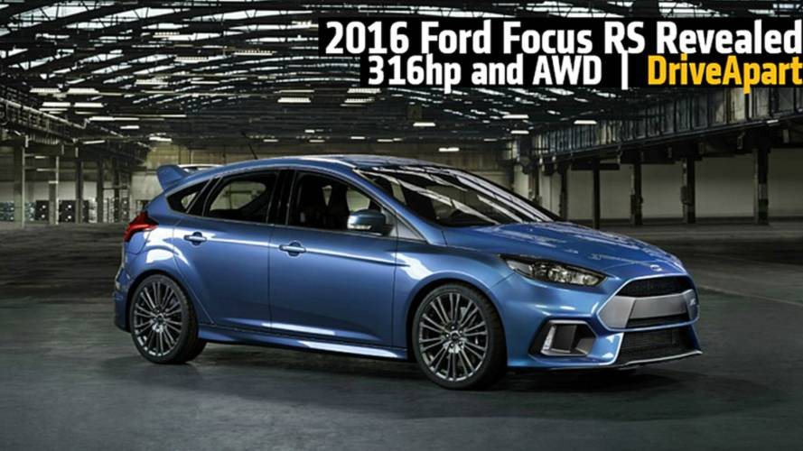 2016 Ford Focus RS Revealed: 316-Plus Horsepower and AWD Coming