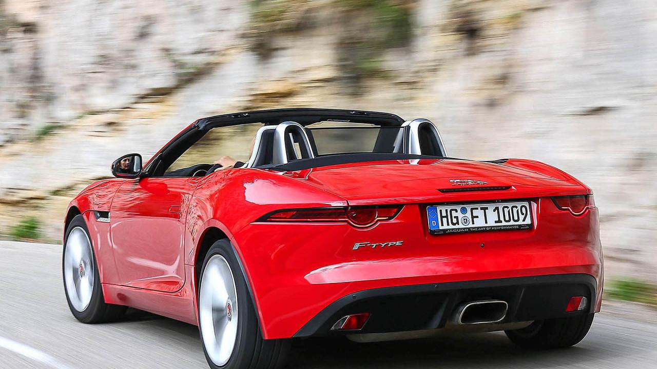 Platz 5: Jaguar F-Type; 12 Sekunden