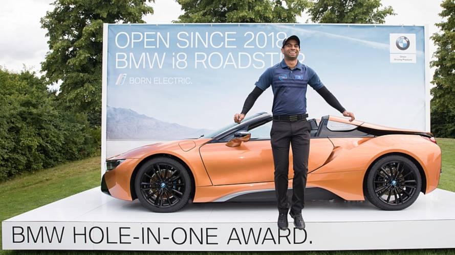 Golfer Bags BMW i8 Roadster After Hole-In-One