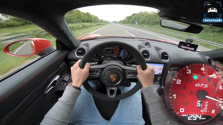 Porsche 718 Cayman GTS Hits The Autobahn, Top Speed Test Ensues
