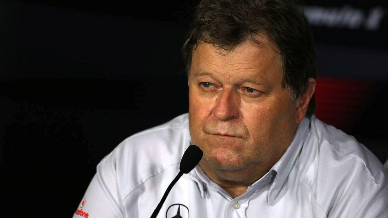Norbert Haug (GER), Mercedes, Motorsport chief, Singapore Grand Prix, Friday Press Conference, 25.09.2009