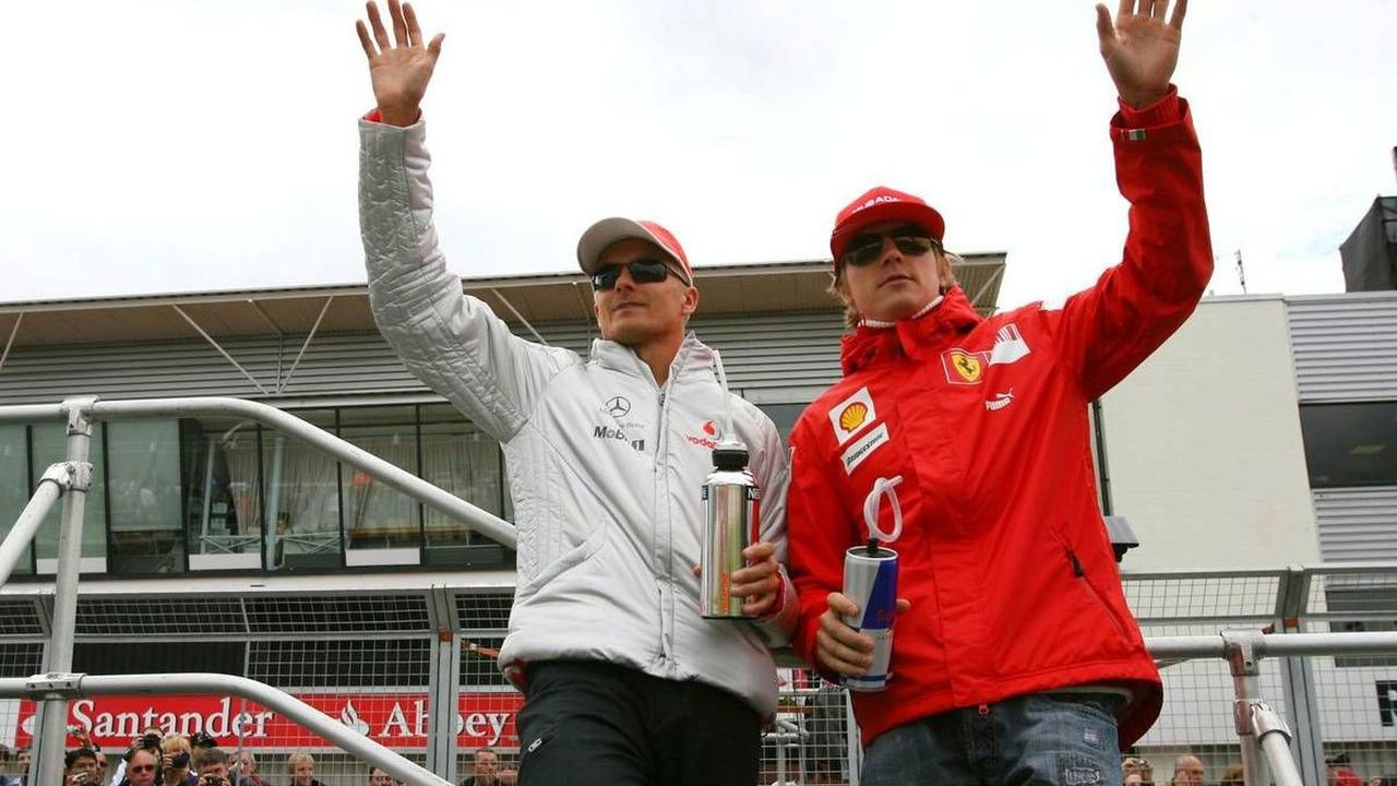 Heikki Kovalainen (FIN) and Kimi Raikkonen (FIN), British Grand Prix, 21.06.2009 Silverstone, England,