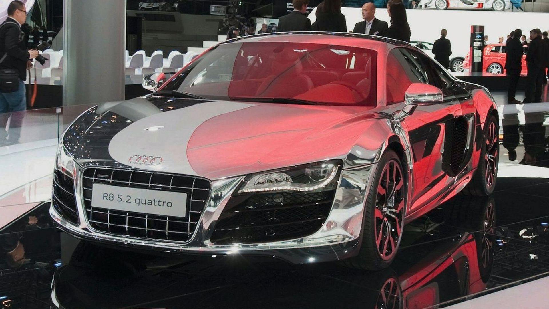 Audi R8 5 2 Fsi Quattro Dressed In Chrome Displayed In Frankfurt