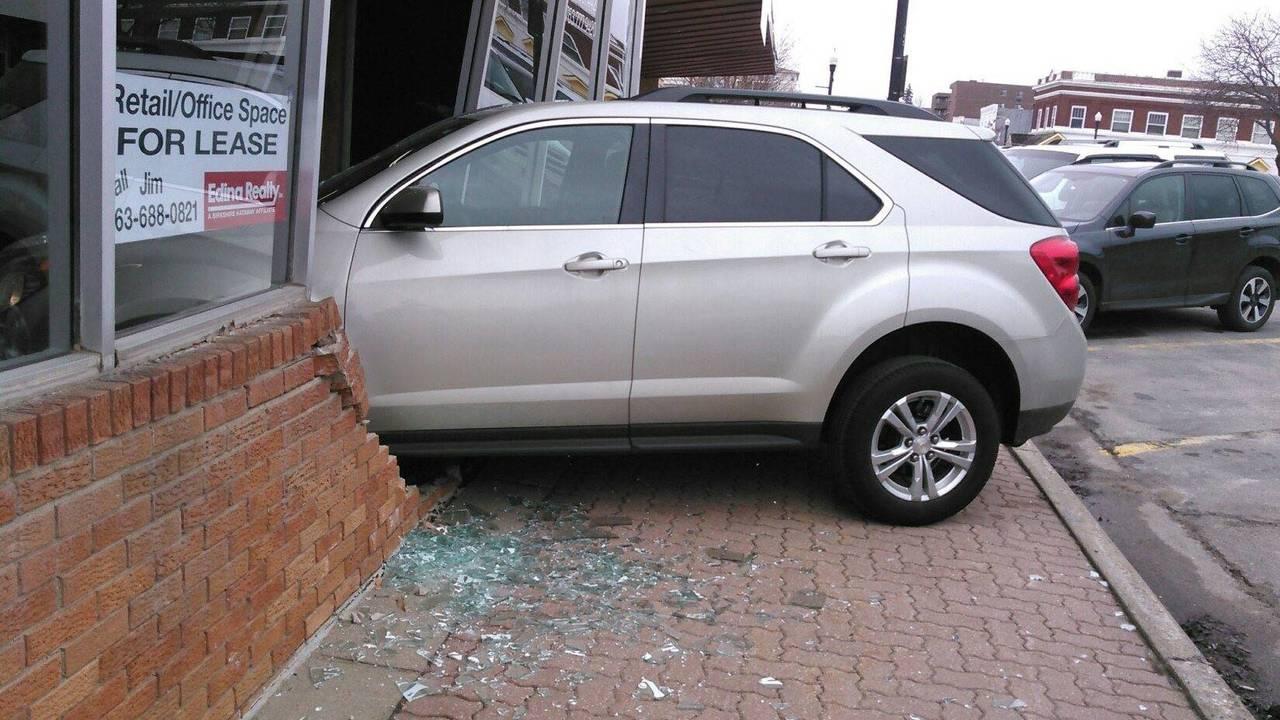 SUV Crash Into Wall