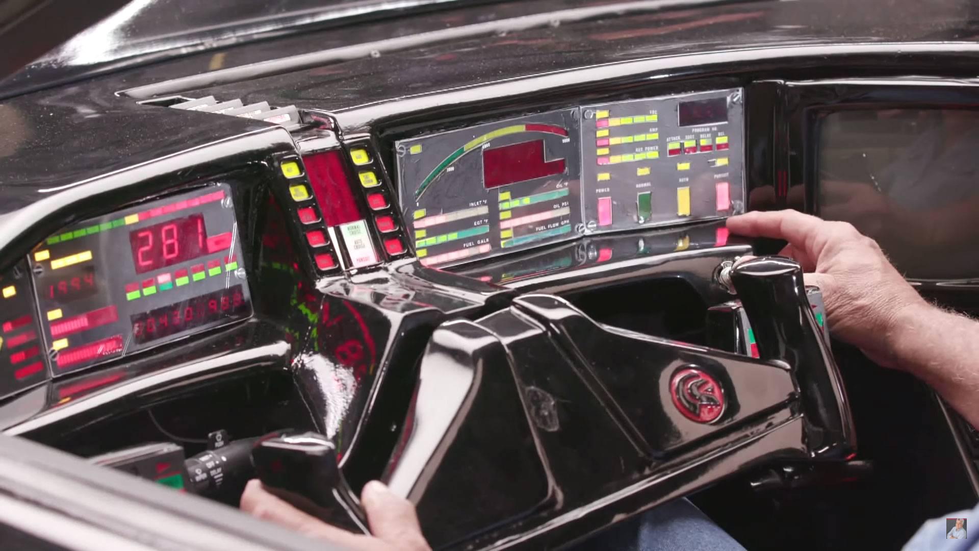 Jay Leno Drives An Original K I T T  From Knight Rider