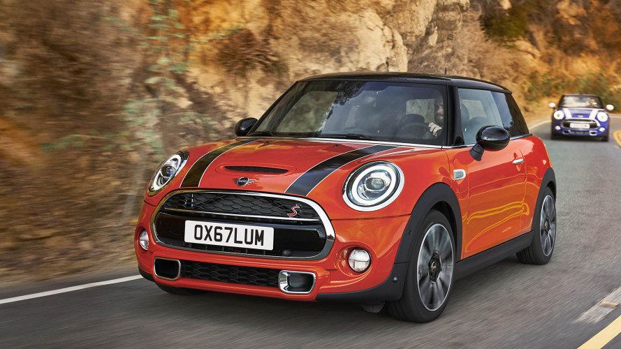 Mini Facelift (2018) mit Rückleuchten in Union-Jack-Optik