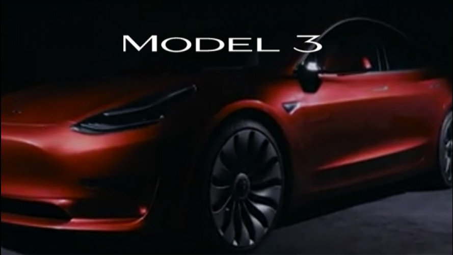 Tesla Model 3, cambia il logo